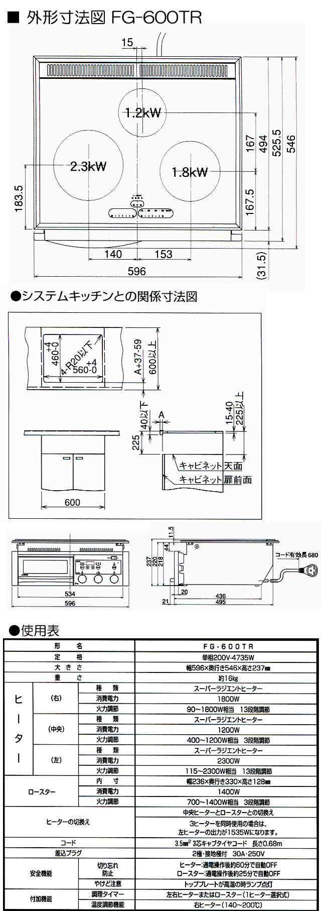 MFGスーパーラジエントヒーター 商品詳細